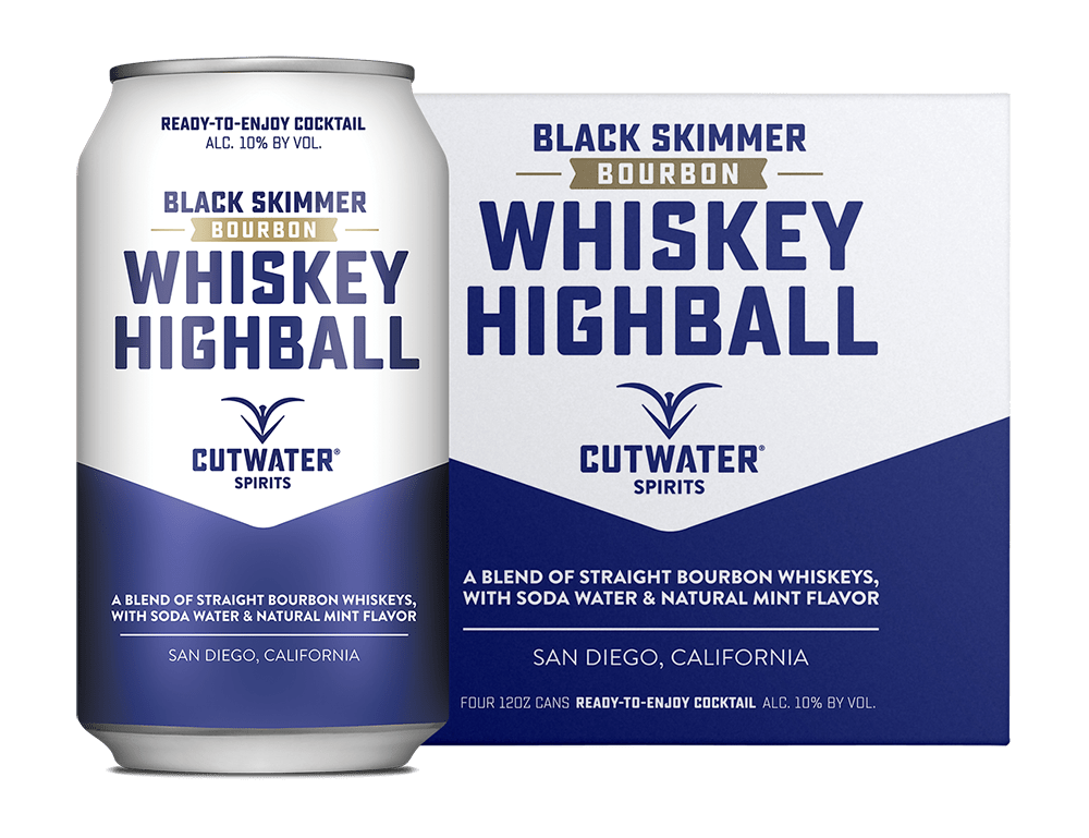 Cutwater Black Skimmer Whiskey Highball - 4-Pack