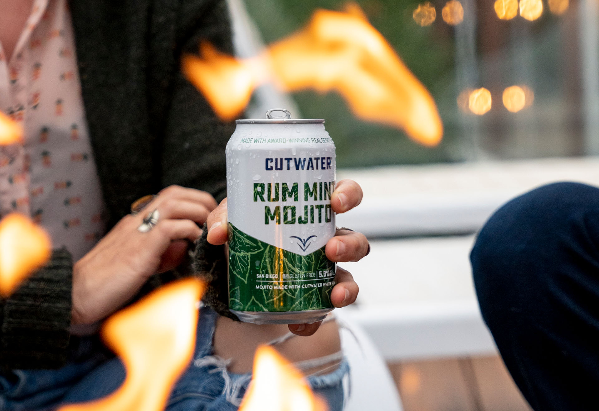 Cutwater Rum Mint Mojito by the Fire
