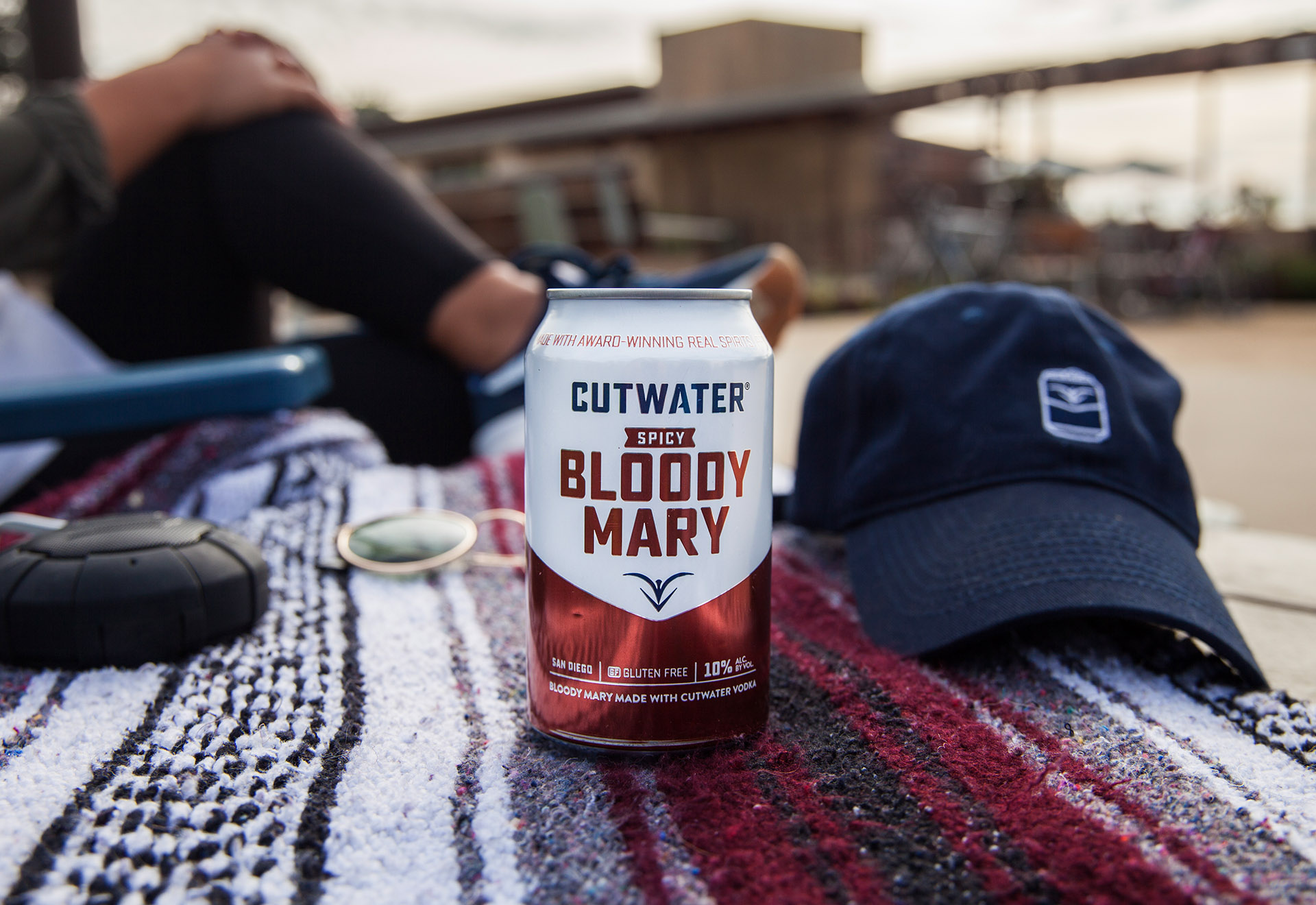 Cutwater Spicy Bloody Mary at a picnic