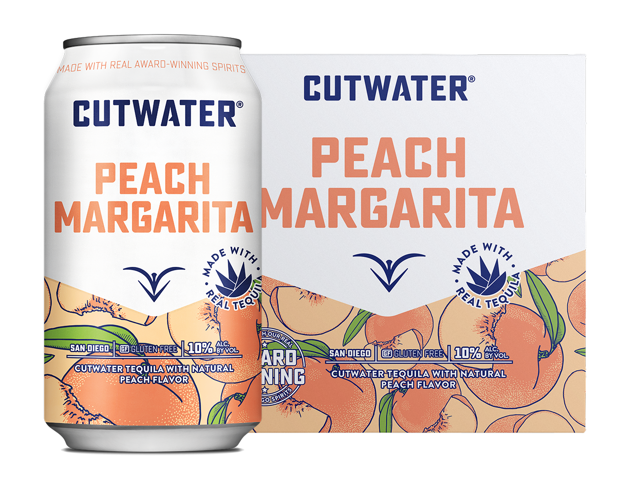Cutwater Peach Margarita Can & 4-Pack